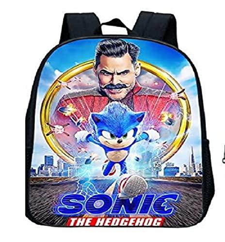 Sonic The Hedgehog Bag Sonic Mochila escolar Niños Bookbag Cartoon Kindergarten Mochila infantil Mochila para niños 3-5 años