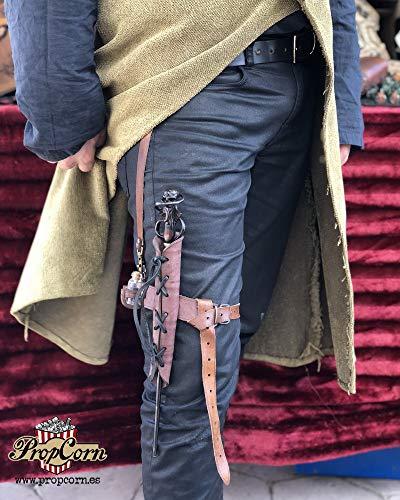Leder Zauberstab Strumpfband Holster, Harry Potter inspiriert, zum Aufhängen Ihres Zauberstabs an Gürtel und Bein, erhältlich in vielen Farben.