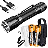 Fenix TK16 v2.0 Tactical Flashlight, 3100 Lumen Long Throw with 2X 5000mAh USB-C Rechargeable Battery and LumenTac Battery Organizer