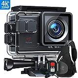Victure AC700 Action Cam 4K 20MP WiFi Unterwasserkamera wasserdichte 40M Action Helmkamera mit 2.4G...