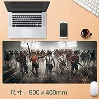 拡張大日本アニメゲーミングマウスパッド厚み付けノンスリップ耐水ビッグテーブルマットプロフェッショナルEsportsもシュートはチキンデスクマットフィールスリップロックノートパソコンのキーボードパッド90 * 40センチメートルを食べます (サイズ : Thickness: 5mm)