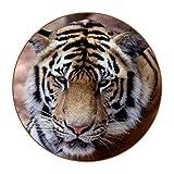 Posavasos para bebidas – Juego de 6 posavasos de piel, protege contra marcas de agua o daños – Se adapta a todas las tazas, tamaño de 4.3 pulgadas pulgadas, posavasos de color tigre asiático