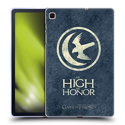 Head Case Designs Licenciado Oficialmente HBO Game of Thrones Arryn Sigils Afligido Oscuro Carcasa de Gel de Silicona Compatible con Samsung Galaxy Tab S6 Lite