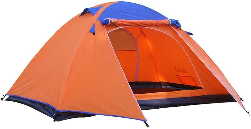 Outing Udstyr, Tente de Camping Pour 2 Personnes Tente D'Extérieur en Aluminium à Double Couche de 4 Saisons en Aluminium Besoin D'être Assemblée Pour les Sports de Plein Air, Kejing Miao