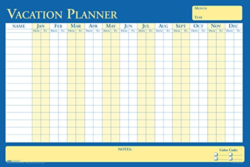 Price comparison product image House of Doolittle Plan-A-Board Vacation / All-Purpose Laminated Planner Reversible 36 x 24 Inch (HOD639)