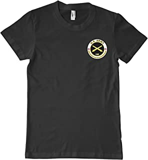 U.S. Army MOS 13P Multiple Launch Rocket Systems Operations Fire Direction Specialist Military T-Shirt 100% Cotton Black