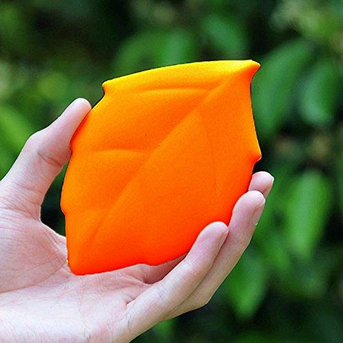 Brosse à dents bouteille poche tasse de style de feuille d'érable de silicone camping - Orange