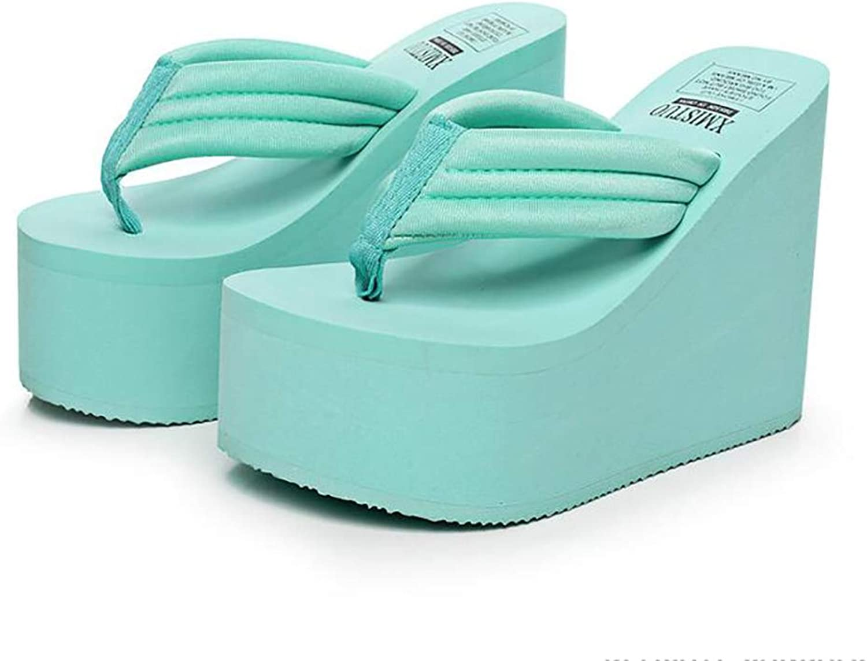 SHANGXIAN Women's Increased Slip-free Slippers Wedge Sandal