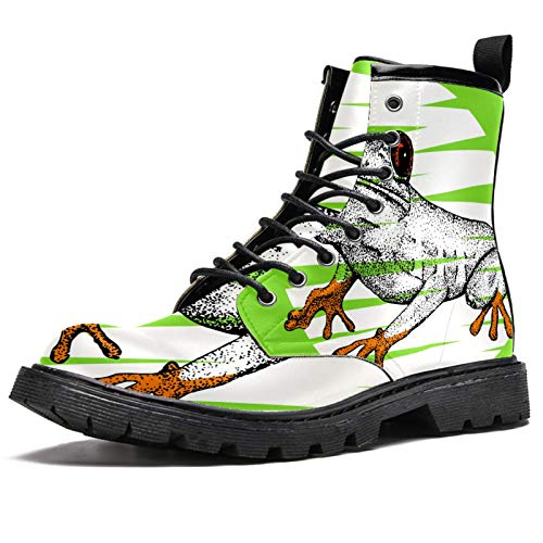 BENNIGIRY Niña de Las Flores, con, Paraguas Botas de Invierno Zapatos clásicos de Lona de caña Alta para Mujer