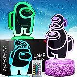 Lámpara De Luz Nocturna 3d Among Us Con Control Táctil y Remoto Lámpara De Escritorio De Mesa Para Dormitorio Juguetes Para Niños