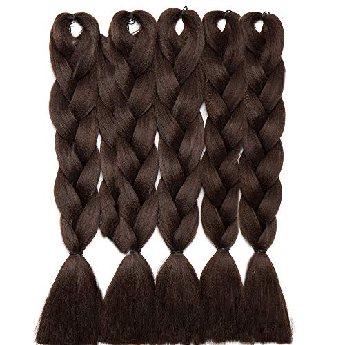 5 Packs Braids Extensions Flechten Hair Extensions Crochet Haar Kunsthaar Kanekalon Colorful 5pcs-24