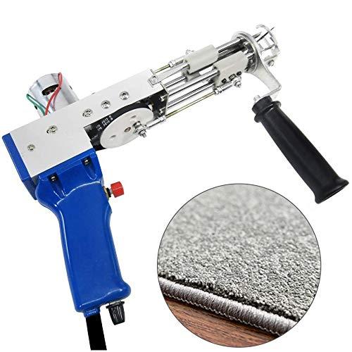 4YANG Pistola para mechones de alfombras para alfombras en Bucle, 5-40 Pasos/s, 7-21 mm máquina de Flocado de alfombras, Herramientas para hogar, máquina de Bordado Industrial (Pila de Corte)