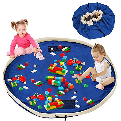 Baby Aufräumsack, Spielzeugsack, Spielzeug Aufbewahrung xxl, Kinder Spielsack Aufräumsack Baumwolle, Beutel Sack für Spielzeug Gross , schnellere Aufräumung,Teppich Unterlage 150cm