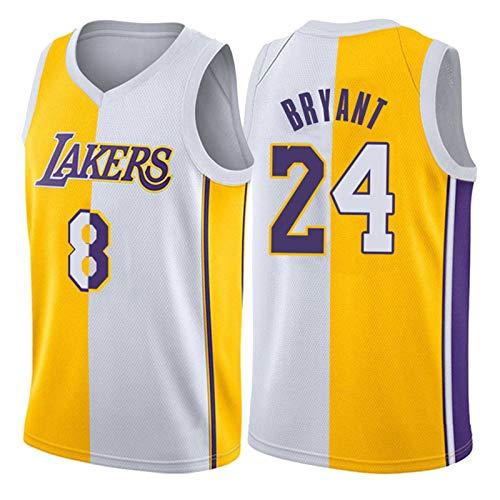 Lakers Black Mamba Kobe Bryant Jersey para Hombre, 24# 8 Swingman Men's Basketball Jersey, Fans de Camiseta Transpirable Camiseta sin Mangas (XS-XXL) Kobe-L