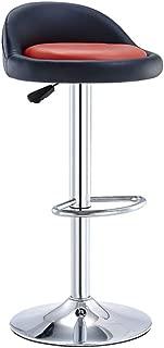 XUEYAN Tabourets Bar Chaise Repose-Pieds Rouge Siege reglable Rotary Lift Hauteur 60-80cm Cuisine Bar Petit-dejeuner Comptoir Bar Tabouret Charge 150 Noir