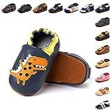 Zapatos Primeros Pasos Bebe Niña Niño Suave Cuero de Imitación Casual Zapatillas de Estar por Casa Pantuflas Infantiles Ligero 2-BLKL 18 Meses
