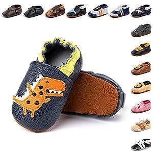 Zapatos Primeros Pasos Bebe Niña Niño Suave Cuero de Imitación Casual Zapatillas de Estar por Casa Pantuflas Infantiles Ligero 2-BLKL 12 Meses