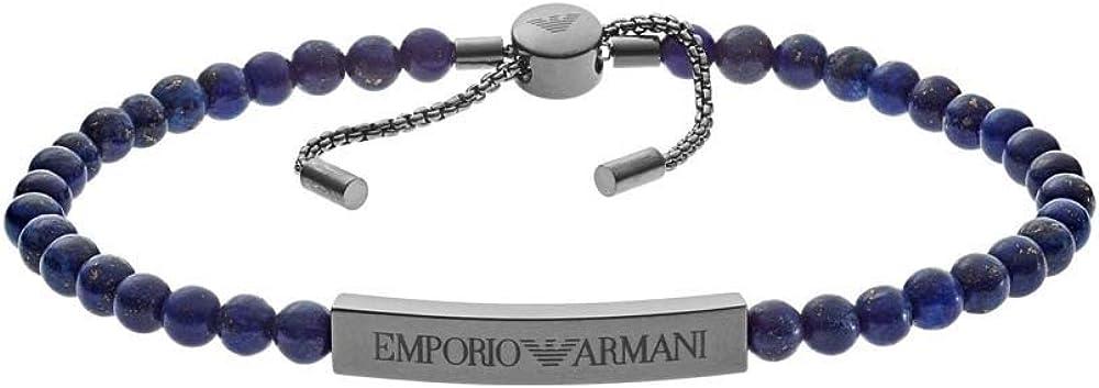 Emporio armani bangle,bracciale per uomo, in acciaio inossidabile EGS2505060