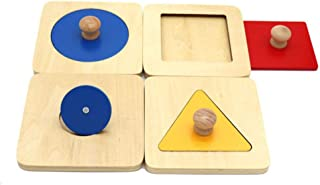 Sanwooden Interesting Toy Baby Panel Toy 4Pcs/Set Geometric Baby Grasping Panel Board Puzzle Kids Early Educational Toy To...