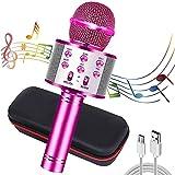 chenan microfono karaoke wireless bluetooth, 4 in 1 wireless portatile karaoke microfono con altoparlante per cantare, per adulti e bambini compatibile con android/ios/pc or smartphone
