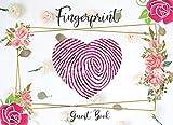 Fingerprint Guest Book: A Heart Shape Stamp Guest Book, Wedding Stamp Guest Book, Wedding Anniversary Guest Book (Message & Fingerprint).