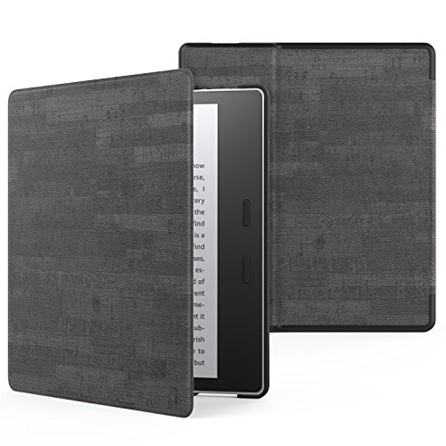 MoKo Case Fits All-New Kindle Oasis (9th and 10th Generation ONLY, 2017 and 2019 Release), Premium Ultra Lightweight Shell Cover with Auto Wake/Sleep - Slate Black