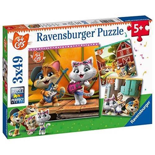 Ravensburger 44 Gatti Puzzle, 3 x 49 Pezzi, 05013