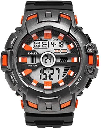 Reloj NLRHH Eventos Deportivos Deportes al Aire Libre Impermeable y a Prueba de Golpes Pantalla electrónica Individual Reloj Peng Student para Hombres (Color: E)-C.