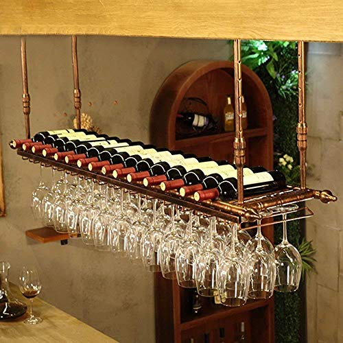 JXXDQ Estante de vino para colgar botellas de vino, para decoración de sala de estar, tamaño 100 x 30 cm