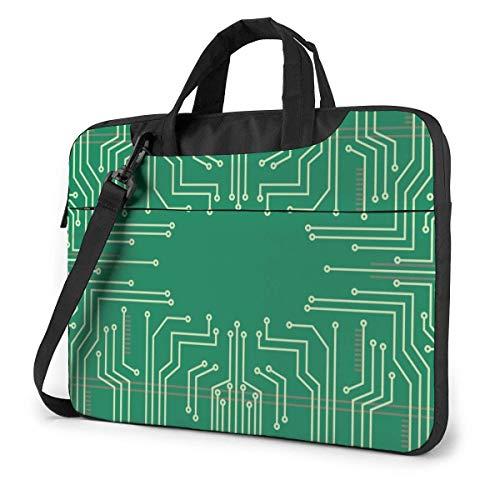 Adults Student Laptop Bag Protective Notebook Computer Protective Cover Handbag Green Main Circuit Board