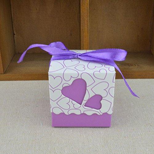 Redcolourful Urparcel doosjes voor snoep, partyboxen, geschenken, kerstbanden, violet, 100 stuks