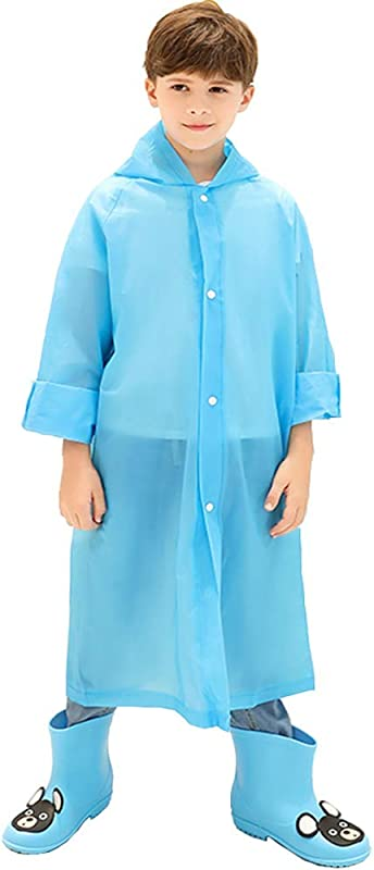 Kids Rain Poncho Reusable Kids Rain Coat For 6 11 Years Old