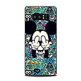 Shoptronics24 Samsung Galaxy S8+ Plus Handy Hülle Case Cover Schutz Etui Tasche Comic Bunt Motiv Schale Smartphone (M17)