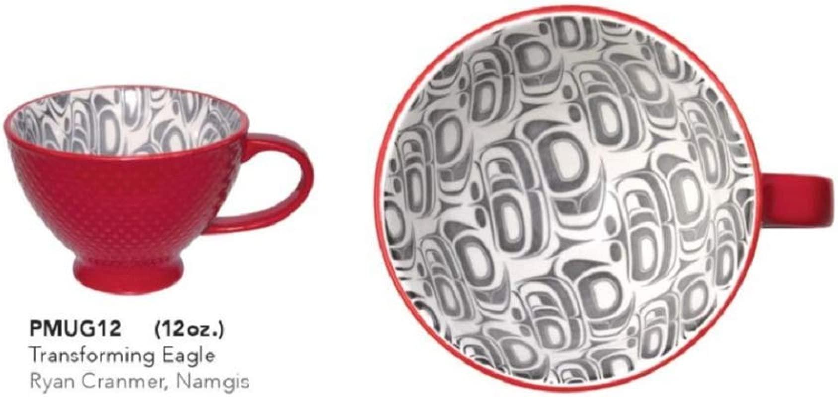 Porcelain Art Mug Transforming Eagle