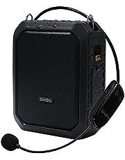 SHIDU Draadloze stemversterker Bluetooth Leraarmicrofoon 18W Waterdichte draagbare stemversterker Headset Mic Oplaadbare stemversterker Persoonlijke microfoon voor in de klas Buiten Gids