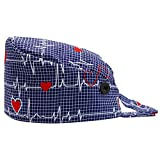 Orthoshoes Gourd-Shaped Working Cap with Buttons Sweatband Adjustable Tie Back Hats for Women Men