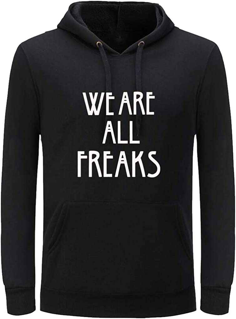 Unisex We Are All Freaks Funny Store Print safety Hoodiefor Women Letter Men
