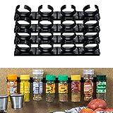 4 x 4 Soporte Organizador para Hierbas y Especias, Organizador para 16 latas, contiene latas de especias grandes de 3,3 – 4,5cm, max. 150 gramos, personalizables y divisibles, con adhesivo y tornillos