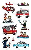 AVERY Zweckform 54137 Kinder Papier-Sticker Berufe 30 Aufkleber (für Jungen und Mädchen, Polizei, Feuerwehr, Notarzt, Kindergeburtstag, Mitgebsel, Gastgeschenk, zum Spielen, Sammeln, Basteln) -