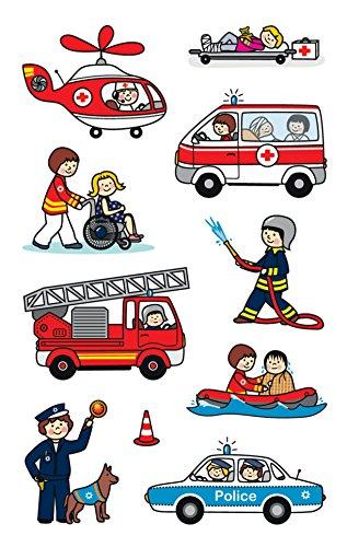 AVERY Zweckform 54137 Kinder Papier-Sticker Berufe 30 Aufkleber (für Jungen und Mädchen, Polizei, Feuerwehr, Notarzt, Kindergeburtstag, Mitgebsel, Gastgeschenk, zum Spielen, Sammeln, Basteln)