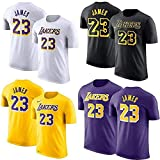 Shelfin Jersey De Hombre Camiseta De La NBA Los Angeles Lakers James # 23...