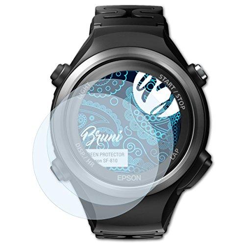 Bruni Schutzfolie kompatibel mit Epson SF-810 Folie, glasklare Bildschirmschutzfolie (2X)