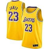 Gold LeBron Basketball James Jersey Los 2018/19 Season Lakers Icon Edition Away Angeles Jersey NO.23 Retro Basketball Camiseta de los niños