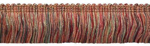 4.6 Meter Value Pack - RED, LIGHT ROSE Baroque Collection Brush Fringe 45mm Long Style# 0175BB Color: ROSE BOUQUET - 7953 (15 Ft / 5 Yards)