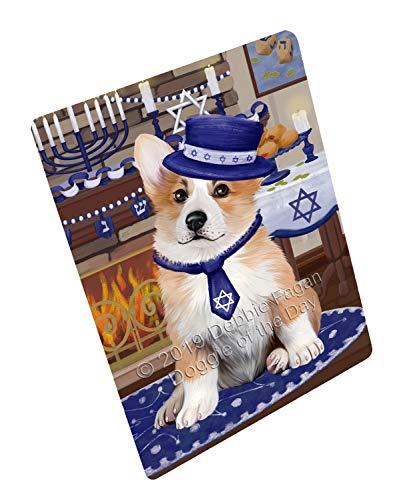Doggie of the Day Happy Hanukkah Family and Happy Hanukkah Both Corgi Dog Blanket BLNKT139988 (50x60 Fleece)