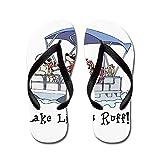 CafePress - Pontoon Boat - Flip Flops, Funny Thong Sandals, Beach Sandals Black