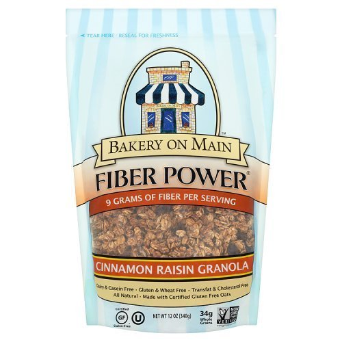 Bakery On Main Gluten-Free Fiber Power Granola, Cinnamon Raisin, 12 Ounce Bag (3 Count)