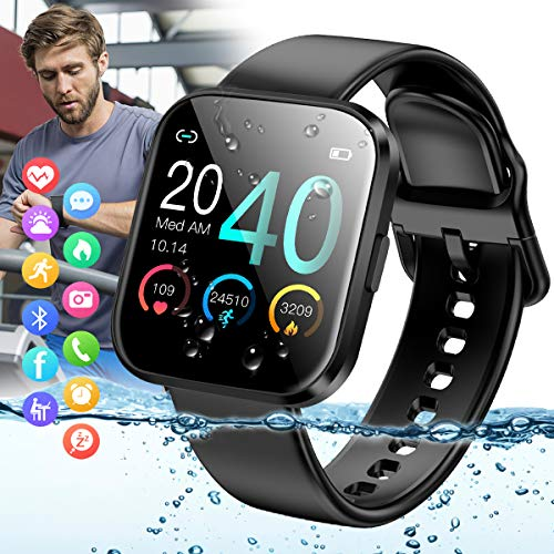 Peakfun Smart watch,Fitness Watch Activity Tracker IP67 Waterproof Sports Tracker Watch with Heart Rate Blood...