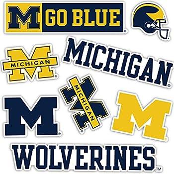 University of Michigan Wolverines UM U of M Sticker Vinyl Decal Laptop Water Bottle Car Scrapbook  Sheet - Type 2