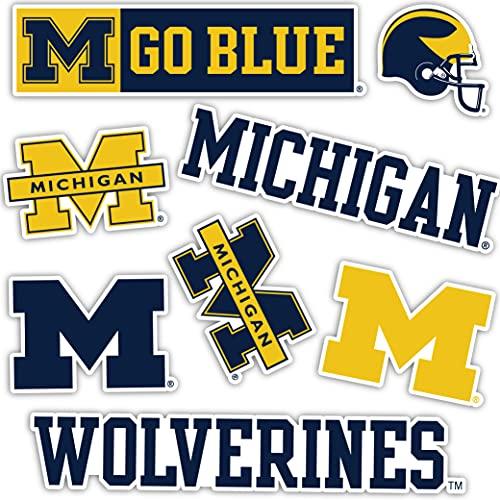 University of Michigan Wolverines UM U of M Sticker Vinyl Decal Laptop Water Bottle Car Scrapbook (Sheet - Type 2)